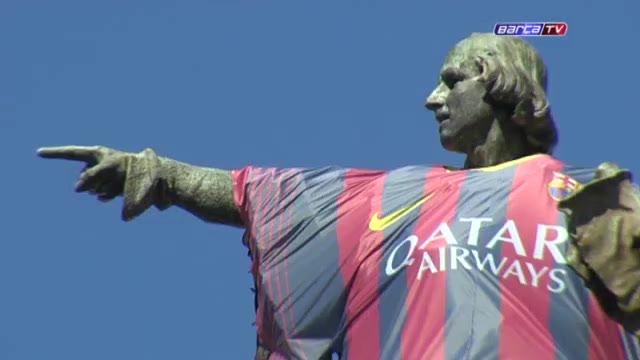 Colon FC Barcelona NIke Ambient Marketing
